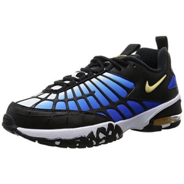 NIKE AIR MAX 120 Sepak Bola Laki-laki-Sepatu 819857-400_10.5-Hyper Biru/Chamois-Hitam-Putih-Intl