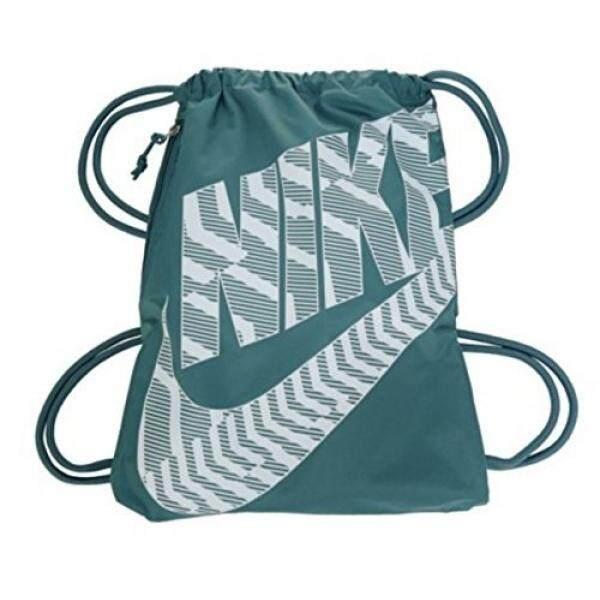 8a07d1488a62d NIKE Heritage Drawstring Gymsack Backpack 400 Denier Sport Bookbag (Iced  Jade Jewel White Graphics