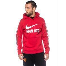 100% Authentic - Nike MU Club Core Soccer Hoodie - Red