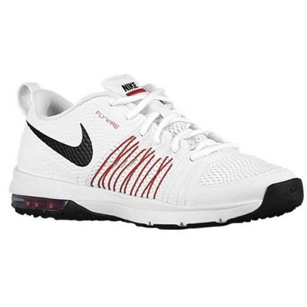 Nike Pria Udara Maksimum Usaha TR Putih & Merah Lari Silang Latihan Sepatu-705353 106 (11.5 D (m)) -Internasional