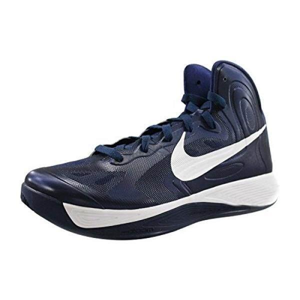 Nike Pria Hyperfuse TB Tengah Malam Navy/Putih Sepatu Basket Kami 13-Intl