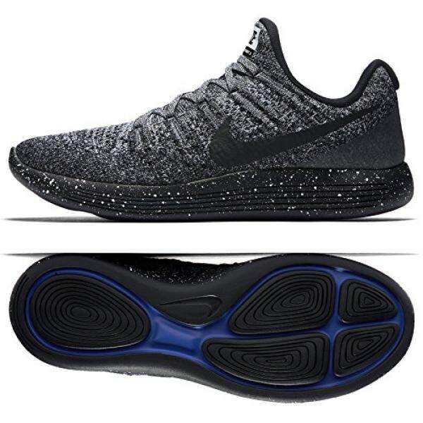 Compare Prices For Nike Mens Lunarepic Low Flyknit 2 Running Shoe Black Black White Racer Blue 10 Intl
