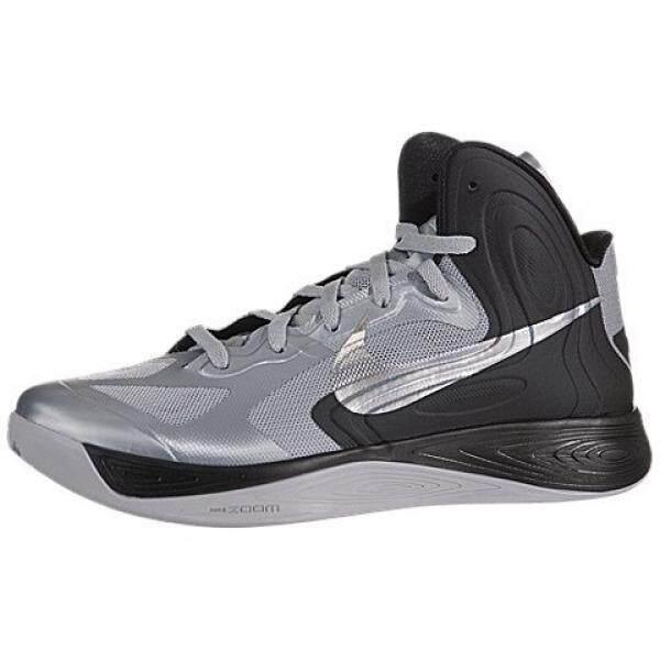 Nike Pria Nike Hyperfuse Sepatu Basket 12 (Serigala Abu-abu/Logam Silkver/Blck)-Intl