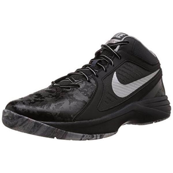 Nike M ens Overplay VIII Basketball Shoe Black/Anthracite/Flt Silver/Metallic Silver 9.5 - intl