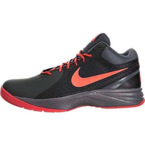 Nike Mens The Overplay VIII Black/Bright Crimson/Dark Grey Basketball Shoe 8 Men US - intl