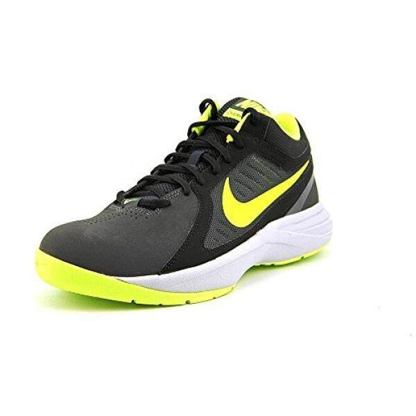 Nike Mens The Overplay VIII NBK Anthracite/Volt/Black/Cl Gry Basketball Shoe 11 Men US - intl