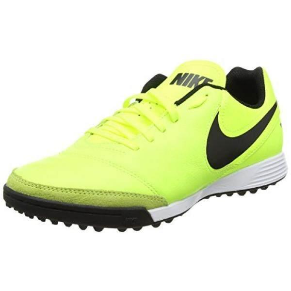 Nike Mens Tiempo Genio II Leather TF Turf Soccer Cleat Volt - intl