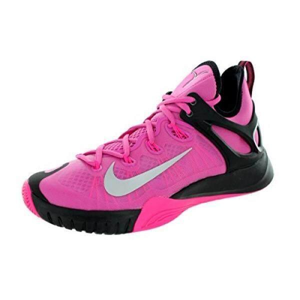 Nike Pria ZOOM HYPERREV 2015 Pnkfr I/Mtllc Slvr/Hypr PNK/Bl Sepatu Basket En Kami-Internasional