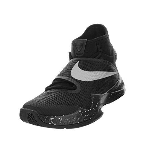 Nike Pria Zoom HyperRev 2016 Sepatu Basket Hitam/Perak Metalik 12-Intl