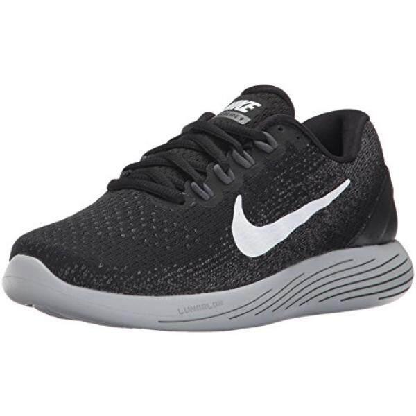 buy online 1b61d e5e3a Nike Wanita LUNARGLIDE 9 Hitam Putih Gelap Grey Sepatu Lari 8.5 Wanita  Kami-Internasional ...