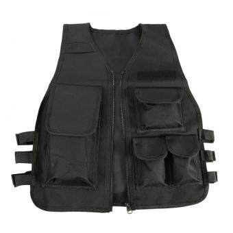 ซื้อดีที่สุด Nylon CS Game Airsoft Molle Plate Carrier Body Armor Vest For Children (black) ซื้อ - มีเพียง ฿430.24
