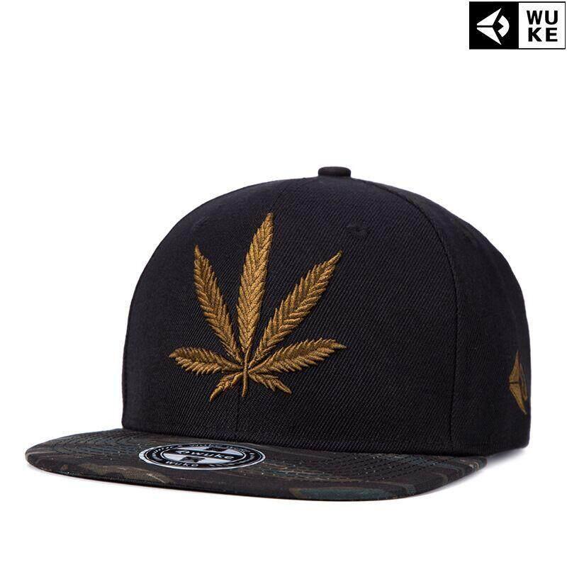 Ocean New Fashion Men Hats Reggae Hip hop Hemp leaf Canvas Embroidery Flat  edge cap Baseball 2290fe0980
