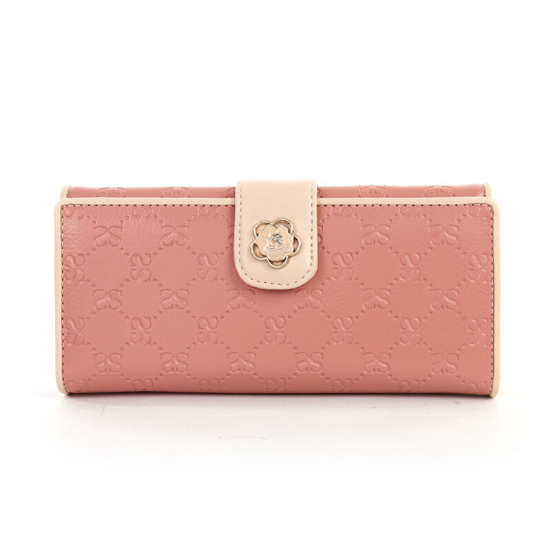 TongChuang Olive, fashion women buckle wallet for women long Wallet (Two Fold Lotus Root
