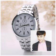 Orlando Man Small Dials Pattern Design Full Steel Watch Relogio Masculino Clock (White) Malaysia