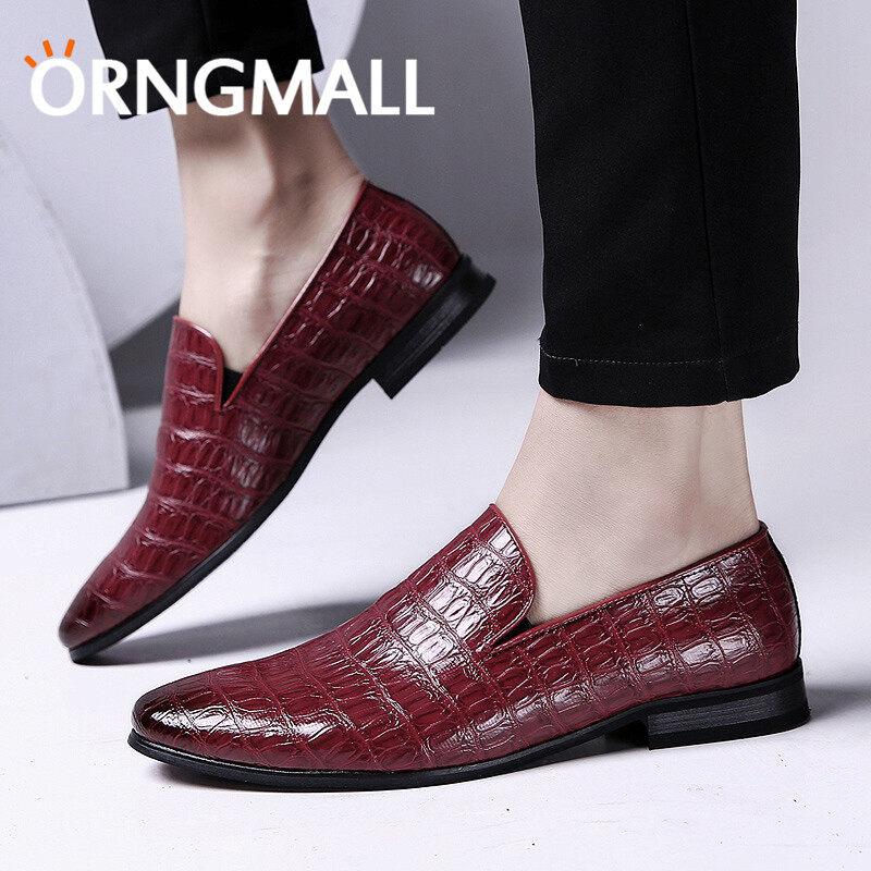 Orngmall 2018 Mewah Pria Klasik Sepatu Gaun Italia Formal Oxford Sepatu Kulit Mewah Kasut Lelaki-