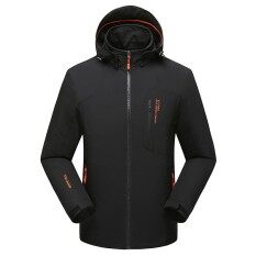 Ngoài trời mùa thu nam thoáng khí chống nước áo đơn lớp quy mô lớn bộ quần áo thể thao nam mềm-quốc tế