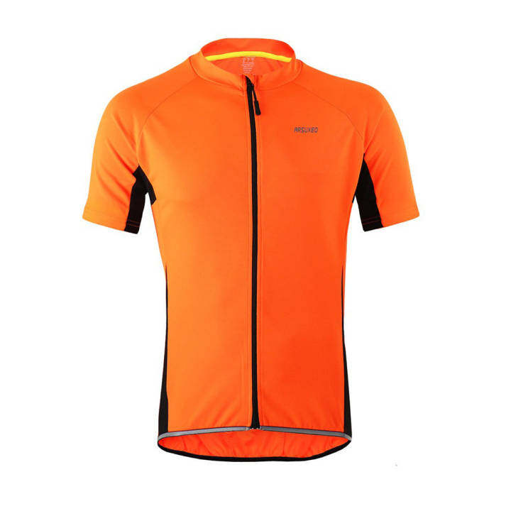Outdoor Sports Cycling Jersey Shirts Reflective Summer Bike Bicycle Short Sleeves MTB Clothing Wear – Orange