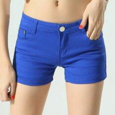 Outlet The New Candy Denim Color Shorts Dark Blue By Outlet Wf.