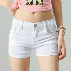 Outlet The New Candy Denim Color Shorts White By Outlet Wf.