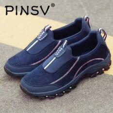 Pinsv Pria dan Wanita Dapat Bersirkulasi Sneakers Berlari Olahraga Sepatu  Kasual Sepatu ebb03e9857