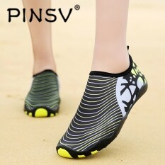 Pinsv Sepatu Pria Luar Ruangan Sepatu Air Sejuk Kolam Sepatu Slip-on Sepatu Yoga Cepat Kering untuk Pria Hulu Trekking Sepatu Model Kaki Berjari