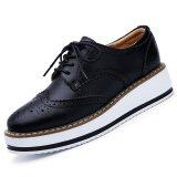 Cheapest Pinsv Women Casual Oxfords Shoes Brogues Lace Ups Black Online