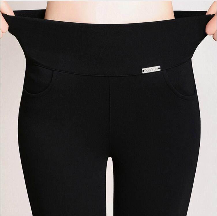 7339c256792 plus size 4XL Women pants Casual Pants High Waist Fashion Stretch Pencil  pants Cotton Skinny Trousers