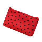 Portable Women Cosmetic Toiletry Bag Makeup Travel Wash Case Pouch Pen Purse red - intl
