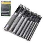 Practical Steel Hollow Punch Set DIY Tool Gasket Belt Hole Punching Leather 5mm