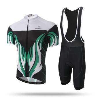ผู้ชายจักรยานเสือภูเขาถนนภูเขาจักรยาน Sportwear ชุดเสื้อยืดปั่นจักรยาน (สีเทา)-