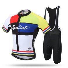 Pro Road Mountain Mtb Bike Clothing Set(yellow) By Tristaxu.