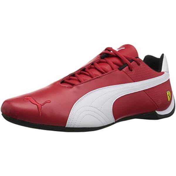 PUMA Mens Ferrari Future Cat OG Sneaker,Rosso Corsa White Black, US - intl