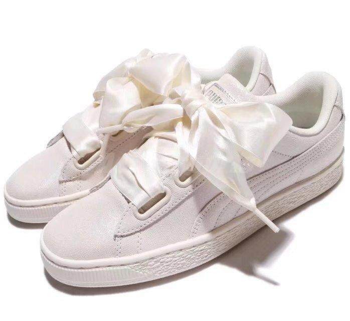 0d09094b07da Puma WMNS Basket Heart NS Wns Bows Triple Shoes White 364108-02 US6.5