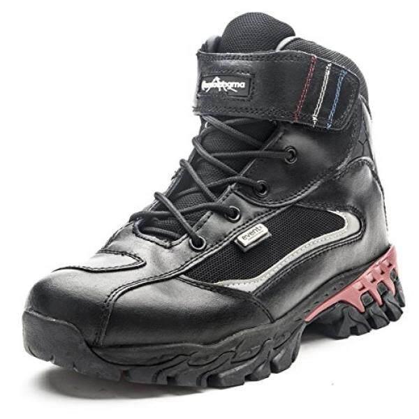 Qomolangma Pria Kulit Sepatu Bot Mendaki Tahan Air Sepeda Motor Ringan Boots untuk Jalur Trekking Outdoor-Intl