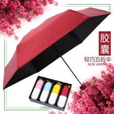 Quality Capsule Mini Pocket Umbrella Clear Mens Umbrella Windproof Folding Umbrellas Women Compact Rain Umbrella By Lovecat.