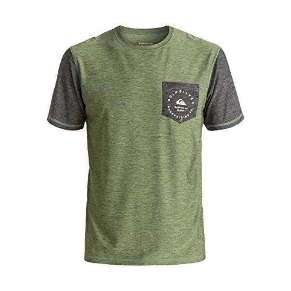 90c09662ce Quiksilver Mens Badge Pocket T-Shirt Rashguard, Four Leaf Clover, Large -  intl