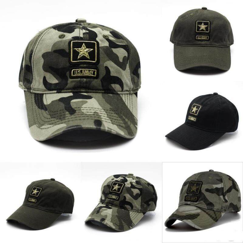 18379d7752e MYR 56. ZB 2018 New Fashion US Army Pentagram Cap Military Hunting Fishing  Hat Outdoor Camo Hat Top Quality Military Caps.