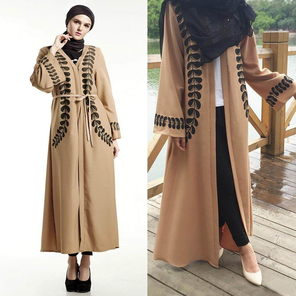 Ramadan Abaya Arab Turkey Hot Spot Muslim Cardigan Print Robe Dress New