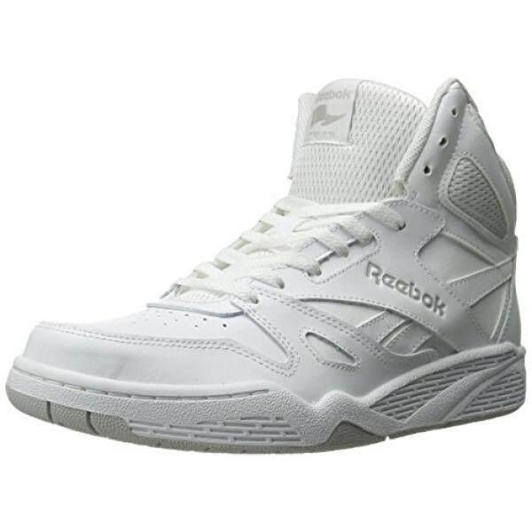 Reebok Pria Royal Bb4500 HI Sepatu Sneaker Modis Putih/Baja, Kami-Internasional