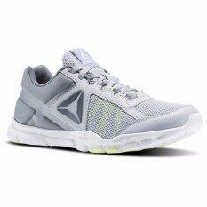 reebok womens yourflex trainette 9.0 mt shoes cloud grey asteroid dust electric flash