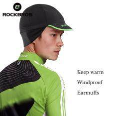 40dacb508405b ROCKBROS Cycling Bike Bicycle Wear Caps Men s Winter Thermal Fleece Warm  Outdoor Sports Hat Fishing Running