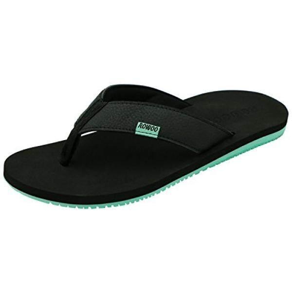 5e397138 ROWOO ROWOO Mens Casual Sandals Comfortable Beach Shoe Slip On Rubber Flip  Flops