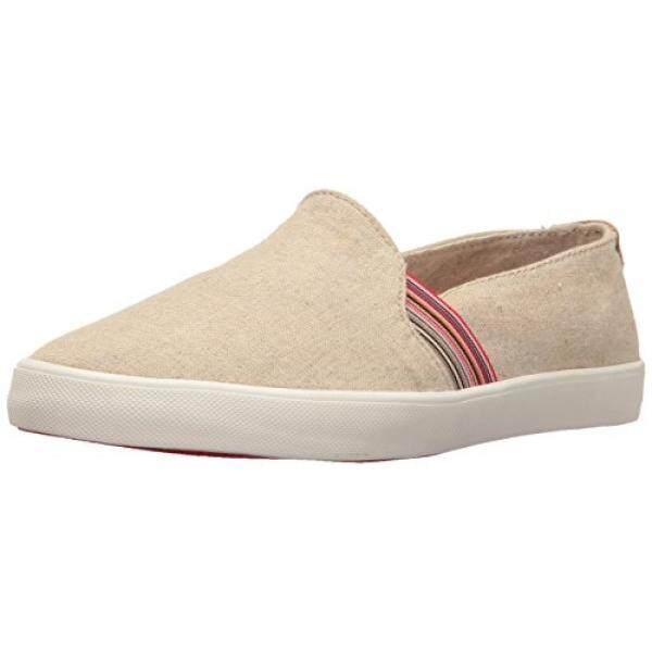 Roxy Womens Atlanta Slip on Shoe Fashion Sneaker, Natural, 6.5 M US - intl