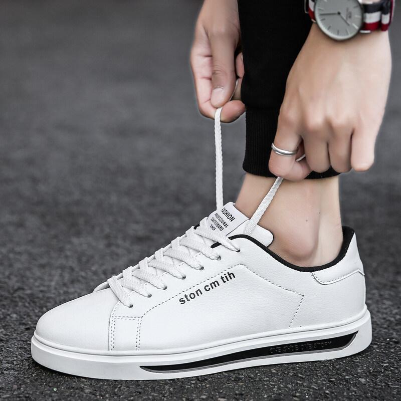 ... Ruig Pria Versi Korea dari Tren Kecil Sepatu Putih Pria MENINGKATKAN Sepatu Kasual Olahraga 100 Siswa