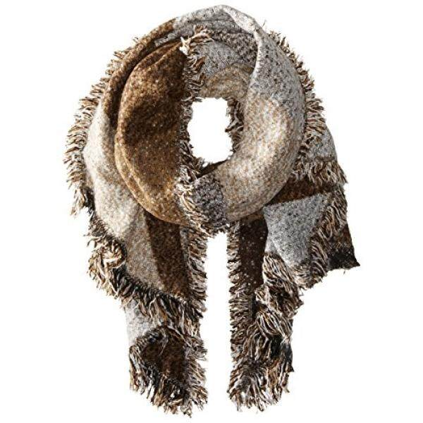 San Diego Hat Company Womens Nubby Tweed Scarf with Fray Edges, Brown, One Size - intl