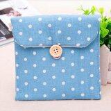 Sanitary Napkins Pads Carrying Bag Small Articles Gather Pouch Blue