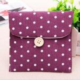 Sanitary Napkins Pads Carrying Bag Small Articles Gather Pouch Purple