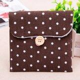 Sanitary Napkins Pads Carrying Bag Small Articles Gather Pouch Coffee
