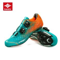 1f4ced400c9 Santic Men Road Cycling Professional Carbon Fiber Soles Shoes Full  Breathable Rotating Button Waterproof Cycling Bike