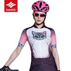 df51c822b MYR 201. Santic New Pro Women Shorts Sleeve Shirt Summer Thin Breathable  Cat Style Cycling Jersey MTB Road Anti-UV Quick Dry Bicycle Bike ...